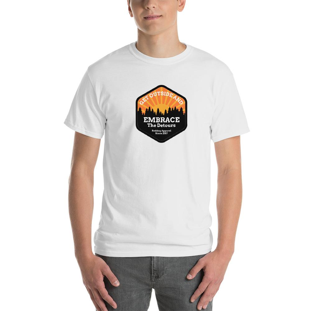 Get Outside Embrace the Detours Mens Shirt White