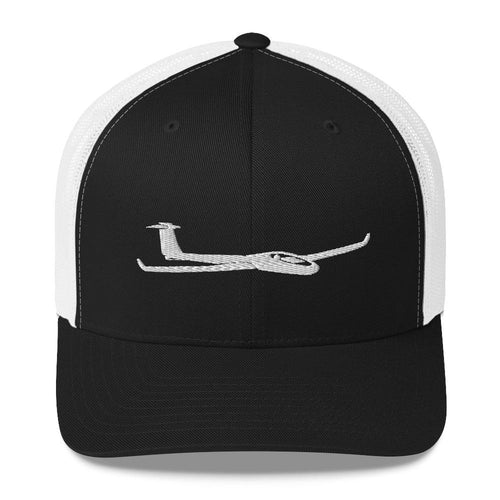 Glider/Soaring Trucker Hat Black White