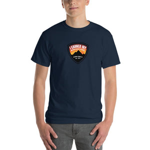I Earned My Wilderness Badge Mens Shirt Blue