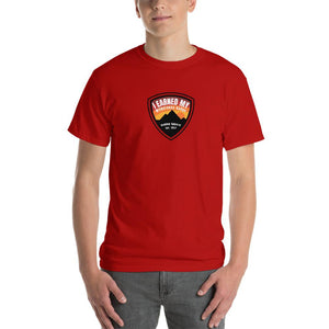I Earned My Wilderness Badge Mens Shirt Red