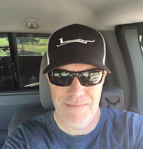 Mike Wearing Glider/Soaring Trucker Hat Black
