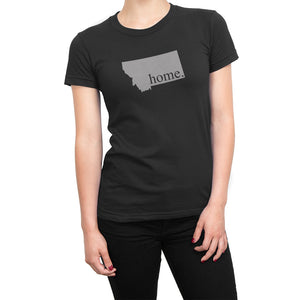 Black Montana Home. Womens Shirt