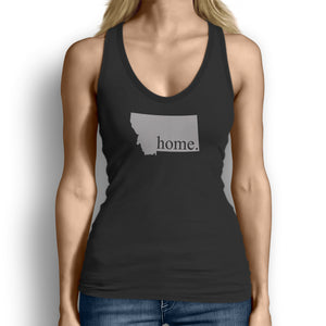 Black Montana Home. Womens Tank Top