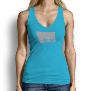 Light Blue Montana Home. Womens Tank Top