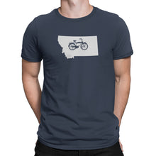 Montana State Bicycle Logo Shirt Blue