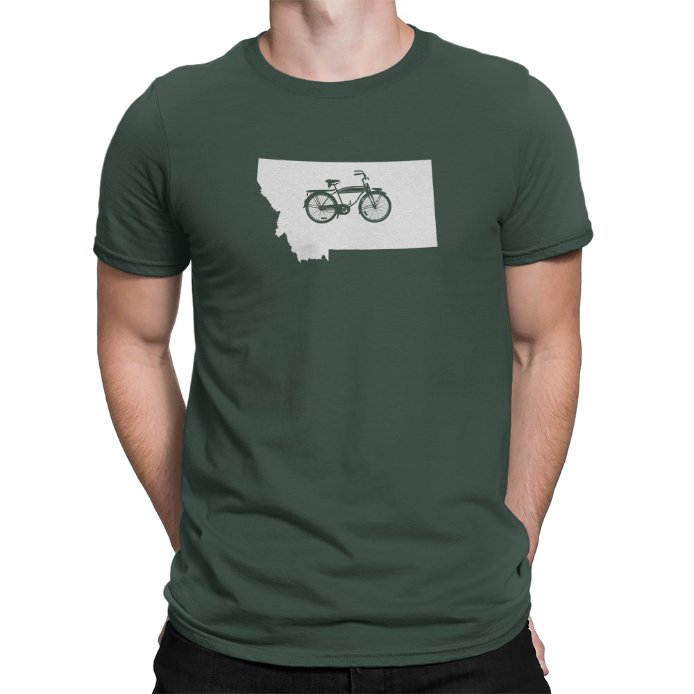 Montana State Bicycle Logo Shirt Green