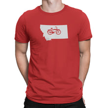 Montana State Bicycle Logo Shirt Red