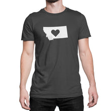 Montana State Love Heart Logo Shirt Black
