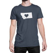 Montana State Love Heart Logo Shirt Blue