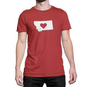 Montana State Love Heart Logo Shirt Red