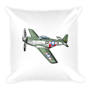 Mustang Zero Fighter Plan Pillow Front