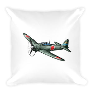 Mustang Zero Fighter Plan Pillow Back