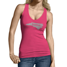 Pink North Carolina Home. Womens Tank Top