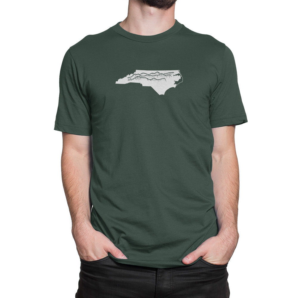 North Carolina Mountains Shirt Green
