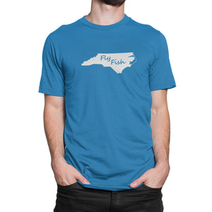 North Carolina Fly Fish Shirt Blue