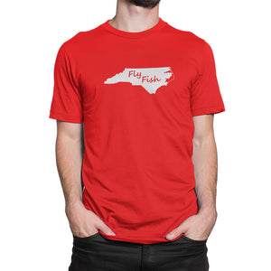 North Carolina Fly Fish Shirt Red