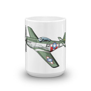 P51 Mustang Airplane Coffee Mug Large