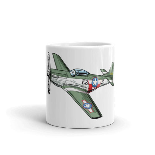 P51 Mustang Airplane Coffee Mug