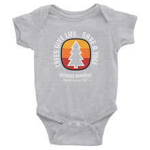 Trees Give Life.  Save A Tree Infant Bodysuit Gray