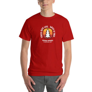 Trees Give Life Save a Tree Mens Shirt Red