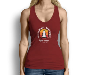 Trees Give Life Save a Tree Womens Tank Top Red