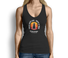 Trees Give Life Save a Tree Womens Tank Top Black