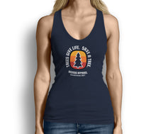 Trees Give Life Save a Tree Womens Tank Top Blue
