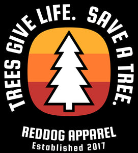Trees Give Life Save A Tree Logo