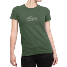 Womens Miltary Tank Shirt Green