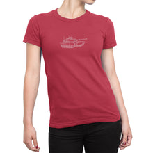 Womens Miltary Tank Shirt Red