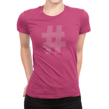 Womens Hashtag Shirt Pink