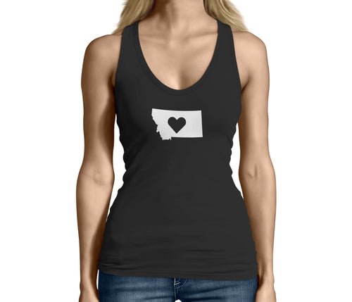 Womens Montana State Love Logo Tank Top
