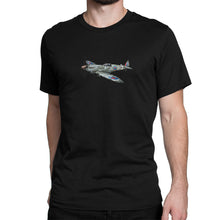 British Spitfire Fighter Plane Shirt Black