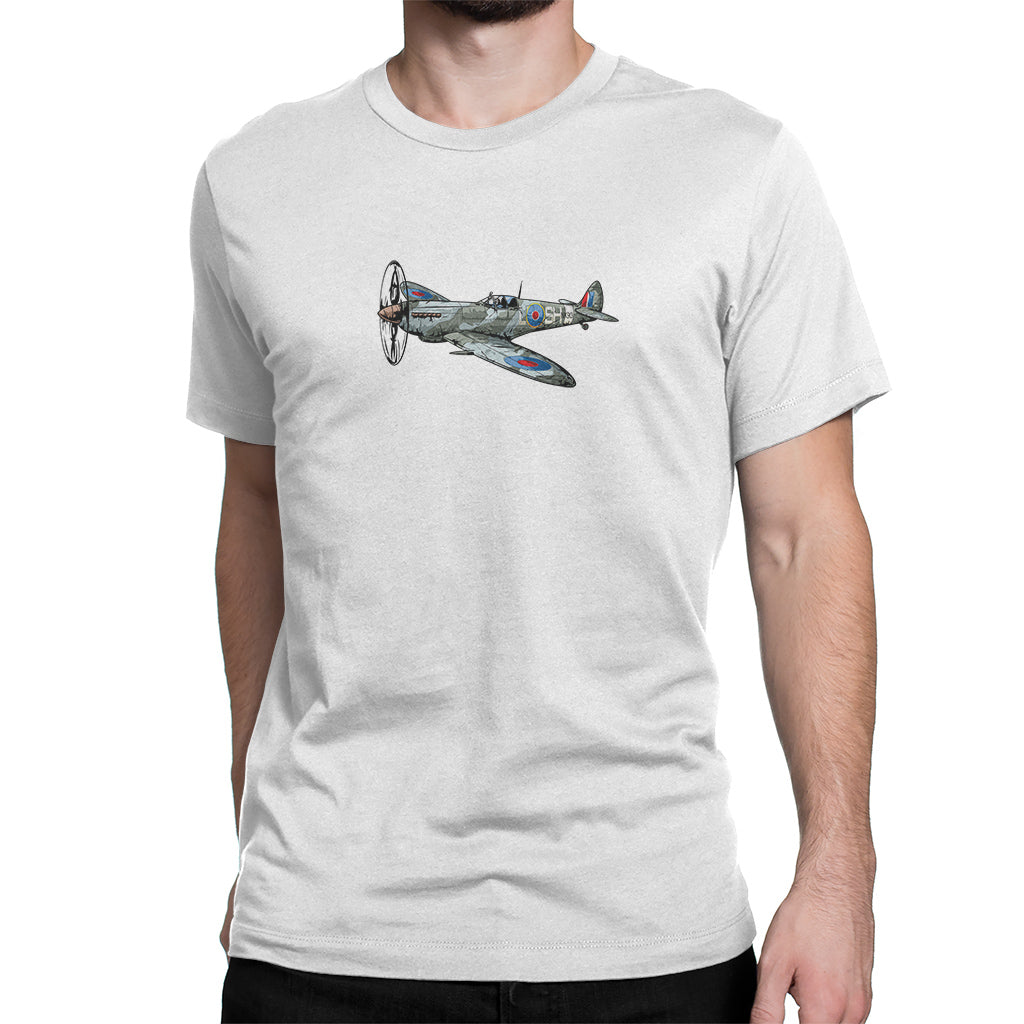 British Spitfire Fighter Plane Shirt White