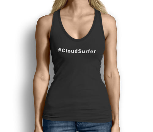 Womens Cloudsurfer Hashtag Aviation Tank Black