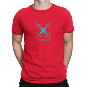 Drone Pilot Hashtag #droner Shirt Red