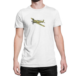 WWI German Focke-Wulf FW-190 fighter plane shirt white