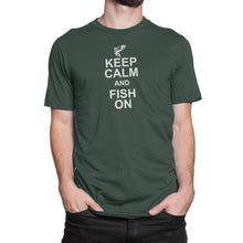 Keep Calm Fish On Mens Green Tshirt
