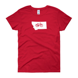 Womens Montana State Bicycle Logo Shirt
