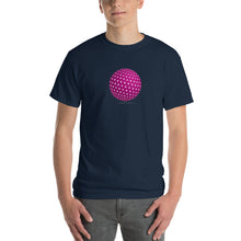 Spherical Tesseract Pink Shape Mens Blue Shirt