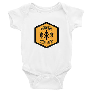 Reddog Apparel Get Outside and Embrace the Detours Sign Infant Bodysuit