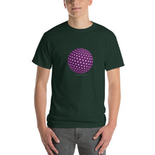 Spherical Tesseract Purple Shape Mens Green Shirt