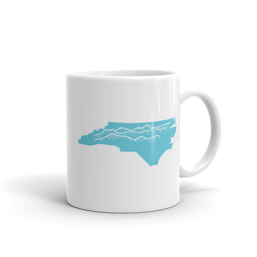 North Carolina Mountains Coffee Mug Side