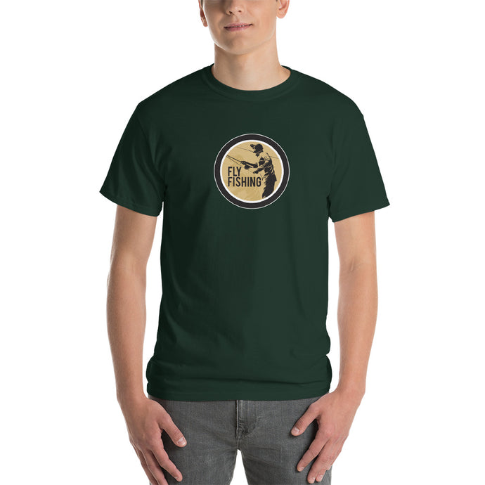 Fly Fishing T-Shirt with Round Fly Fishing Logo