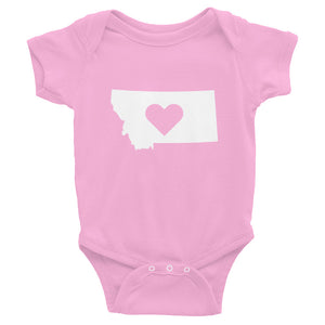 Montana State Love Logo Infant Bodysuit