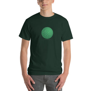 Spherical Tesseract Green Shape Mens Green Shirt