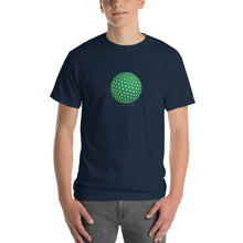 Spherical Tesseract Green Shape Mens Blue Shirt