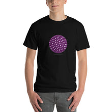 Spherical Tesseract Purple Shape Mens Black Shirt