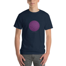 Spherical Tesseract Purple Shape Mens Blue Shirt