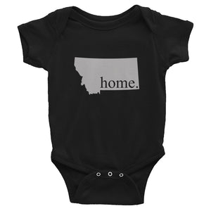 Montana State Home Infant Bodysuit Black
